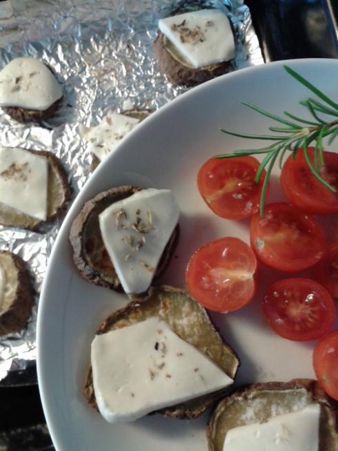 batata doce e tomate