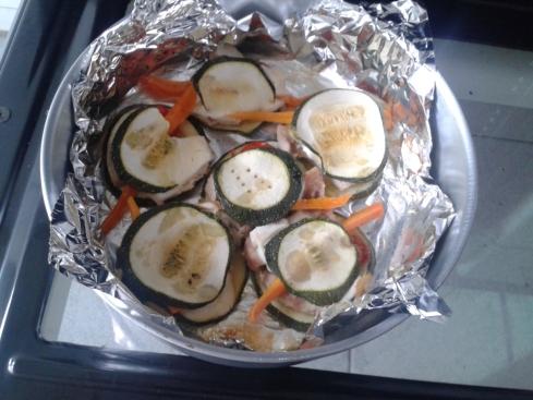 curgete (cenoura, tomate)