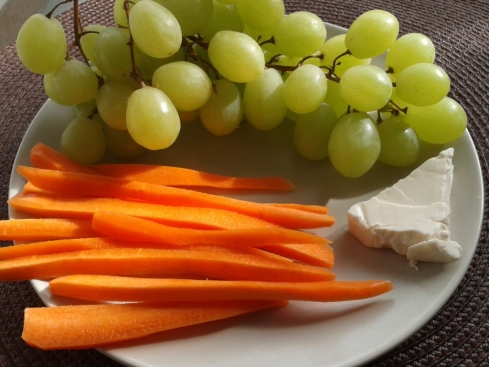 grapes carrots cheese