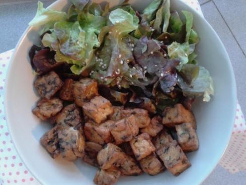 tofu com algas