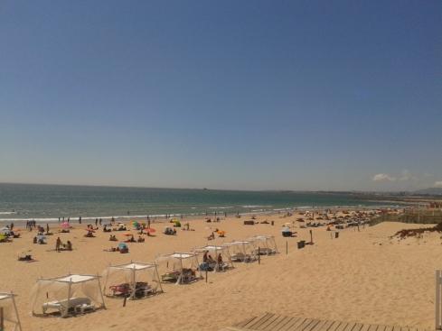 A praia de S. joao Caparica