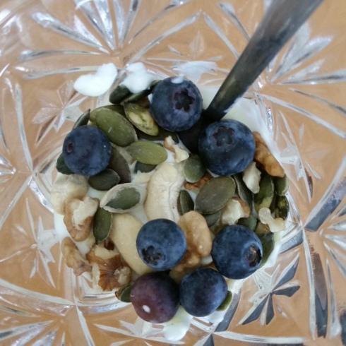 iogurte e frutos frescos